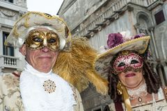 Venise, Italie - 7 février 2018 - les masques du carnaval 2018 Image stock
