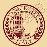 Venise, Italie a isolé le timbre-poste illustration de vecteur