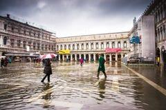 Venise, Italie, le 5 novembre 2018 : La place de San Marco a inondé photo stock