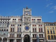 Venise, Italie Paysage stupéfiant de la tour d'horloge de St Mark photo stock