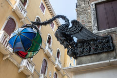 VENISE, ITALY/EUROPE - 12 OCTOBRE : Le dragon de Maforio à Venise Photo stock