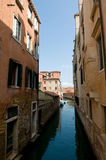 Venise italy water view. With piers and houses Royalty Free Stock Photography