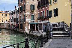 Venise, kanał, Vénétie, Italia, Obraz Royalty Free