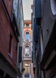 Venise, l'Italie, Grand Canal et appartements historiques Photo libre de droits