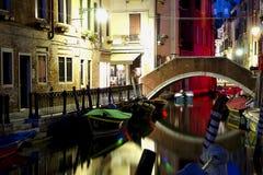 Venise la nuit Photographie stock libre de droits