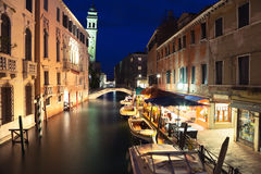 Venise la nuit photographie stock