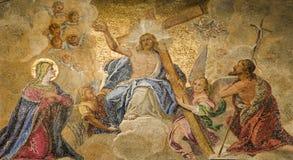 Venise - mosaïque de cathédrale de repère de rue - por principal photos libres de droits