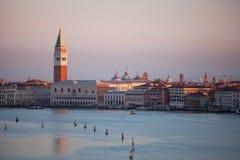 Venise pendant le début de la matinée Photographie stock libre de droits