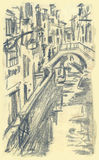 Venise, Ponte Mocenigo illustration de vecteur