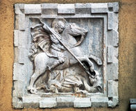 Venise : St George et le dragon Photos stock