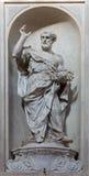 Venise - statue de St Peter (1738 - 1755) d'église Santa Maria del Rosario (dei Gesuati de Chiesa) Photographie stock libre de droits