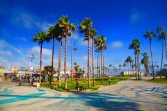 Venise strand, Santa Monica, Kalifornien Arkivfoton