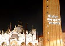 Venise, VE, Italie - 8 septembre 2017 : Basilicaand le texte sur t Photographie stock libre de droits