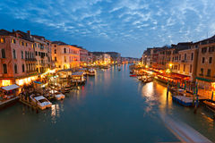 Venise, vue de passerelle de Rialto. Images libres de droits