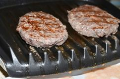 Venison burgers Royalty Free Stock Images
