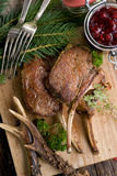 Venison chops Royalty Free Stock Photo
