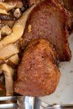 Venison deer game filet and wild mushrooms Stock Images