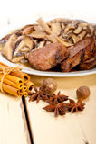 Venison deer game filet and wild mushrooms Stock Image