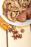 Venison deer game filet and wild mushrooms Stock Image