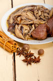 Venison deer game filet and wild mushrooms Royalty Free Stock Photos