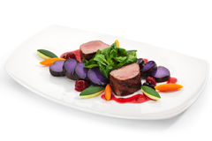Venison Dish Royalty Free Stock Images