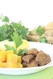 Venison goulash with parsley Royalty Free Stock Photo