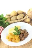 Venison goulash with rutabaga and potatoes Royalty Free Stock Image