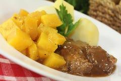 Venison goulash with turnips Stock Images