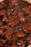Venison jerky. In a marinade Royalty Free Stock Image
