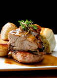 Venison meat steak with potato Stock Photography