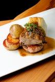 Venison meat steak with potato Stock Images
