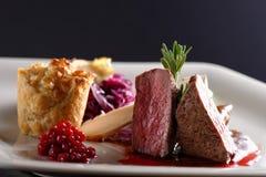 Venison meat steak Royalty Free Stock Photography