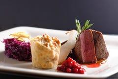 Venison meat steak Stock Images