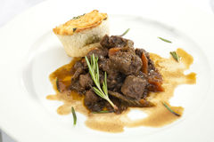 Venison ragout with dumpling Royalty Free Stock Photo