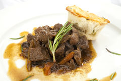 Venison ragout with dumpling Stock Images
