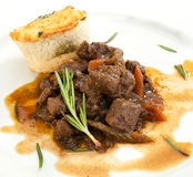 Venison ragout with dumpling Royalty Free Stock Image