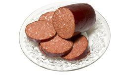 Venison sausage Royalty Free Stock Photos