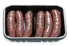 Venison sausages Royalty Free Stock Images
