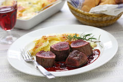 Venison steak Royalty Free Stock Images