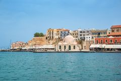 Venitian habor of Chania, Crete, Grece. Venitian habor of Chania in Crete, Grece Royalty Free Stock Images