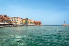 Venitian habor of Chania in Crete Grece. Venitian habor of Chania in Crete, Grece Royalty Free Stock Images