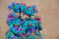 Venitian karneval Arkivfoto