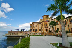 Venitian palace. In ringling park at the  seaside in sarasota in florida Stock Photo