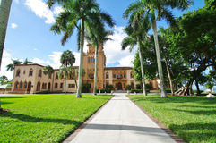 Venitian palace. Face of the venitian palace in the ringling park in sarasota Royalty Free Stock Image