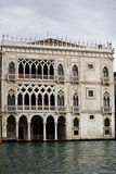 Venitian palace of the grand canal Royalty Free Stock Photography