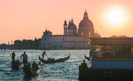 Venetian landmark bathed in glowing sunset Stock Photo