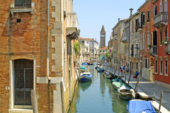 Venitian street with water channel Stock Image