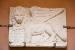 Venitian Winged Lion. Plaster cast of a Winged Lion- Venice, Italy Royalty Free Stock Image