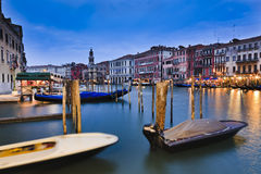 Venive Grand Canal Set Stock Photography