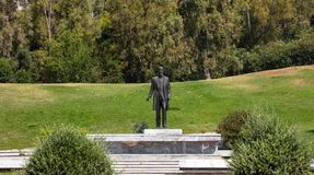 Venizelos Eleftherios statue at liberty park in Athens, Greece. Nature background. Stock Image